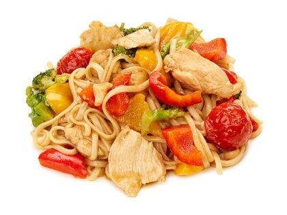 Wok с курицей и овощами