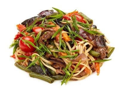 Wok с говядиной и грибами