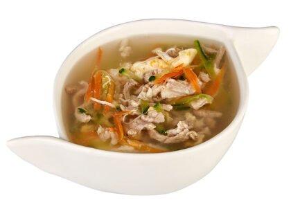 Суп со свининой и яйцом