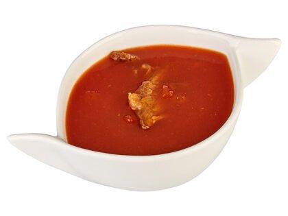 Суп с говядиной и томатами